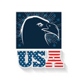 usa eagle design vector image vector image