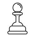 video game pawn icon outline style vector image vector image