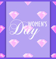 womens day diamond pattern on purple background vector image vector image