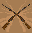 World War II Rifle with Bayonet vector image