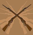 World War II Rifle with Bayonet vector image vector image
