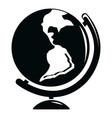 globe icon simple black style vector image