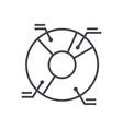 pie diagram line icon sign vector image