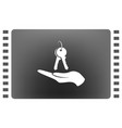 hand with keys icon flat design best icon vector image