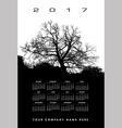 2017 Creative tree calendar vector image vector image