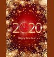 2020 happy new year with winter background vector image vector image