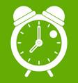 alarm clock retro classic design icon green vector image vector image