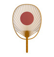 asian hand fan traditional cooling device vector image vector image
