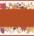 autumn banner on leaves fall background vector image vector image