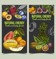 banner for grocery market with fruits vector image vector image
