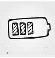 battery hand drawn vector image vector image