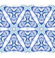 blue flower fractal triangular pattern vector image vector image
