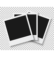 Bunch of Photo Frames Isolated on PS Style vector image vector image