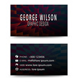 Business card blue cube vector image vector image