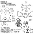 business elements hand-drawn vector image vector image