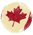 Canadian grunge flag Grunge effect can be cleaned vector image vector image