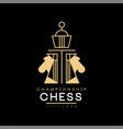chess championship logo design element for vector image vector image