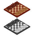chess chessboard chessmen on it in black and vector image