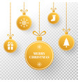 christmas gold bauble winter holiday tag bright vector image vector image