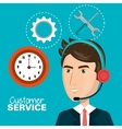 customer service agent working online vector image vector image
