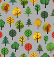 Different trees seamless background vector image vector image