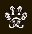 Dog footprint image