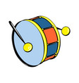 drums toy icon cartoon style vector image