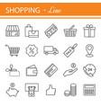 e-commerce outline web icons set vector image