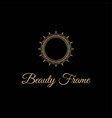 elegant and luxurious stylish gold frame vector image vector image