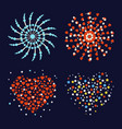 firework different shapes colorful festive heart vector image vector image