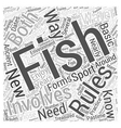fishing for beginners Word Cloud Concept vector image vector image