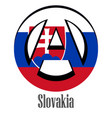 flag of slovakia of the world in the form of a vector image vector image