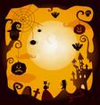 flat halloween symbols poster vector image vector image
