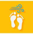 flat summer footprints on beach vector image