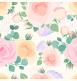 flowers pastel color flat seamless pattern vector image vector image