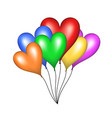 flying balloons in shape of heart vector image