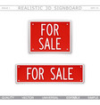 for sale signboard stylized car license plate vector image vector image