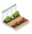garden center equipment sale isometric composition vector image vector image