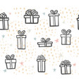gift seamless pattern color simple present box vector image vector image