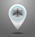Glossy Aircraft Icon vector image