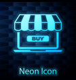 glowing neon online shopping concept buy on vector image vector image