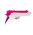 gun sign detachable paper vector image vector image