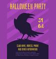 halloween poster design template vector image vector image
