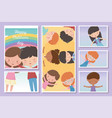 happy children day cards boy and girls vector image vector image