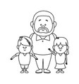 happy dad his son and daughter vector image