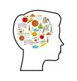 head human profile thinking vector image vector image