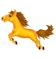 Horse cartoon jumping vector image