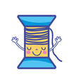 kawaii cute happy thead with arms vector image vector image
