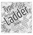 Ladders Type and Use Word Cloud Concept vector image vector image