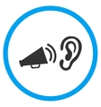 Listen Advertisement Circled Icon vector image